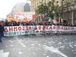 População grega indignada