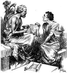 Socrátes minutos antes de tomar o veneno